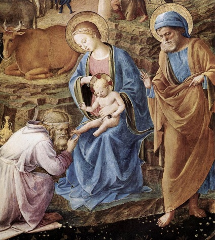 Detail from Fra Angelico's The Adoration of the Magi
