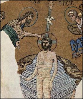 Baptism of of Christ Meister von Daphni