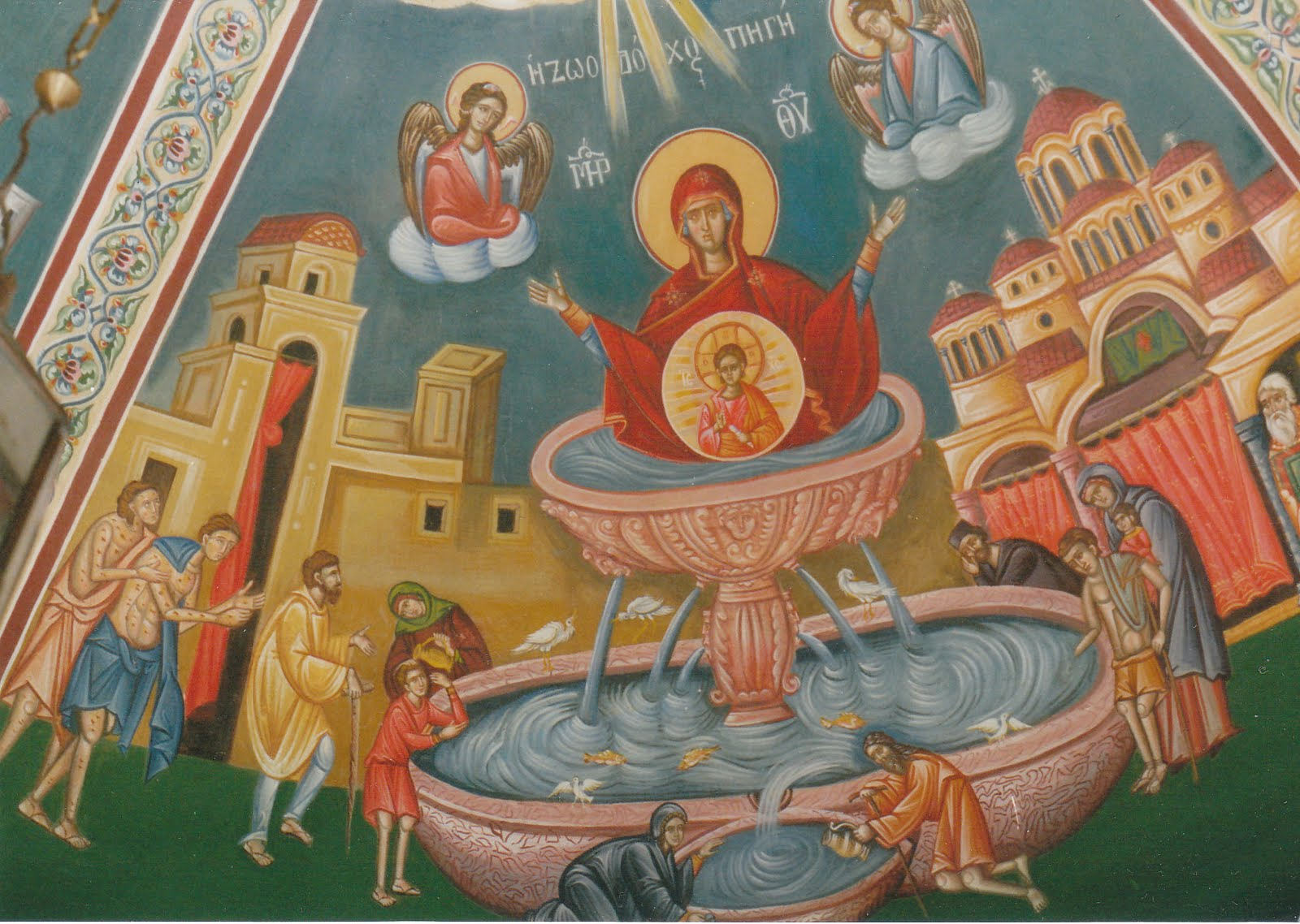 The Theotokos as a life-giving fountain