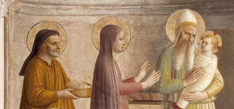 "Detail from ""The Presentation"" by Fra Angelico"