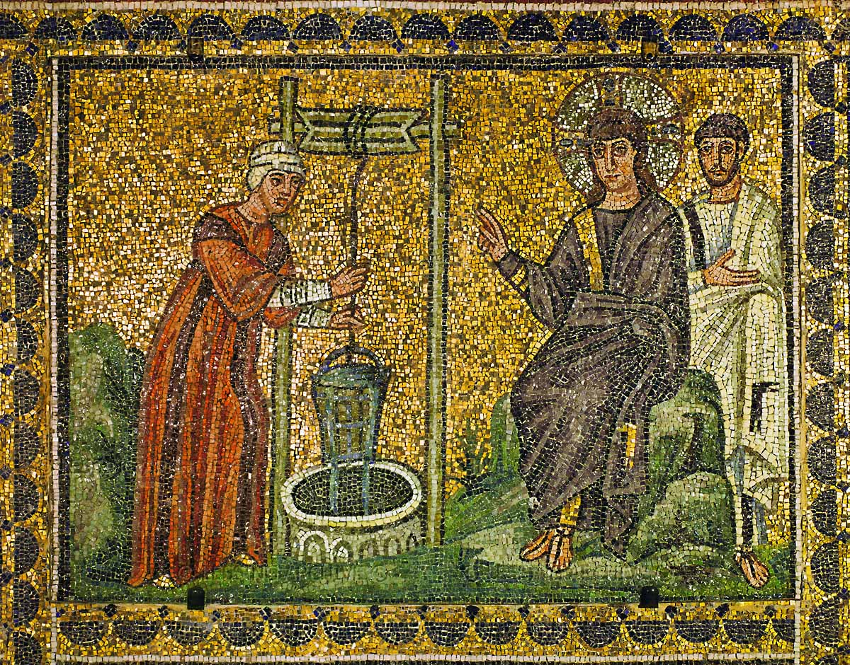Jesus and the Samaritan Woman (6th Century)