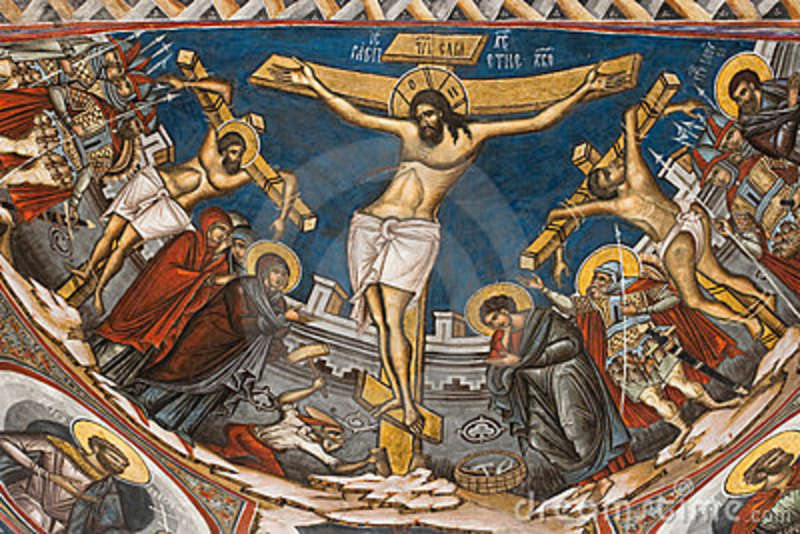 Icon of the Crucifixion from the Modovita Monastery (16th C.)