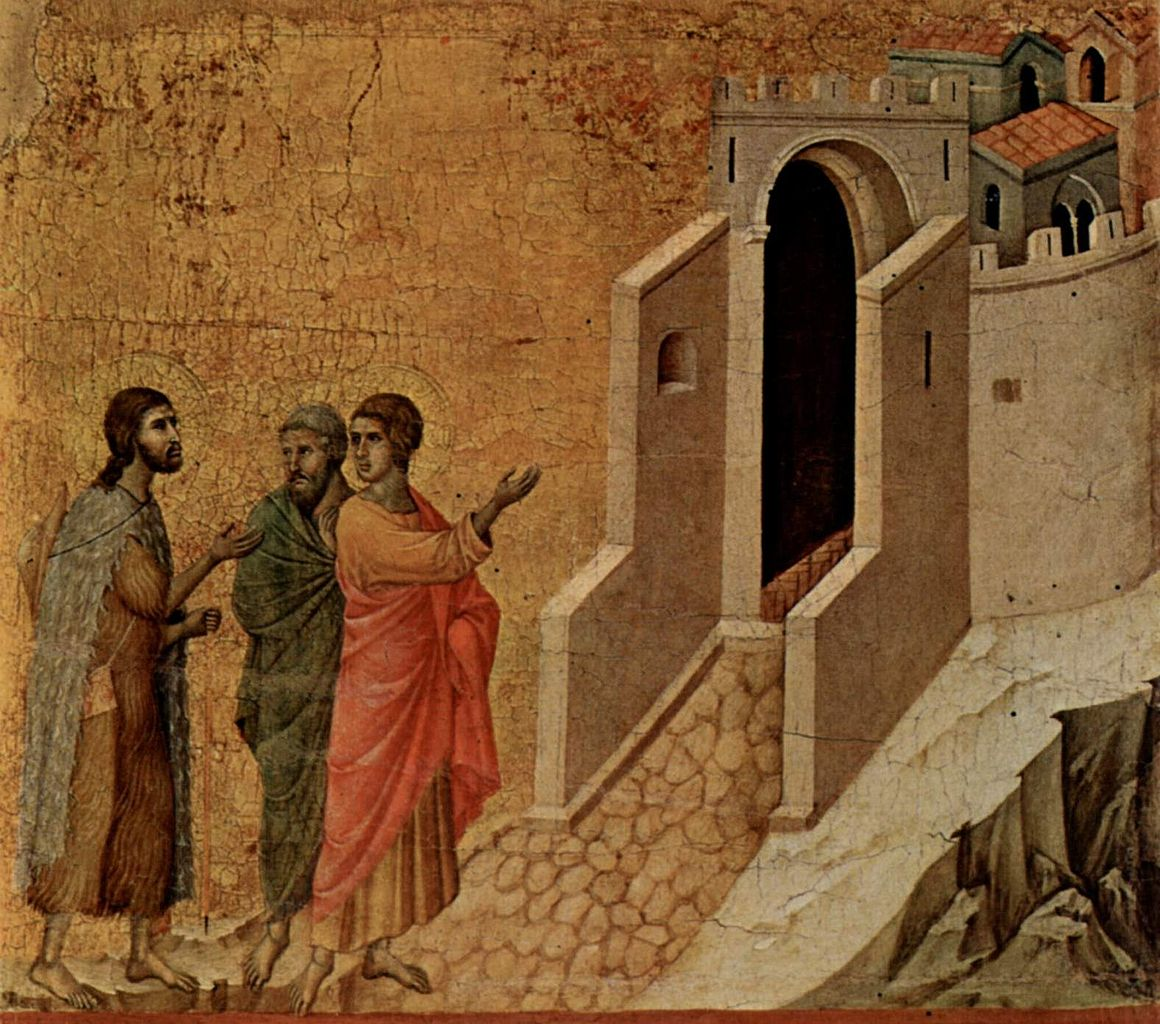 """On the Road to Emmaus"" by Duccio (1308-1311)"