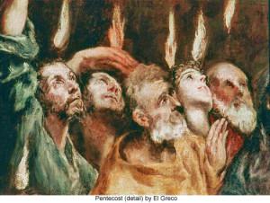 El_Greco_Apostles_Pentecost detail
