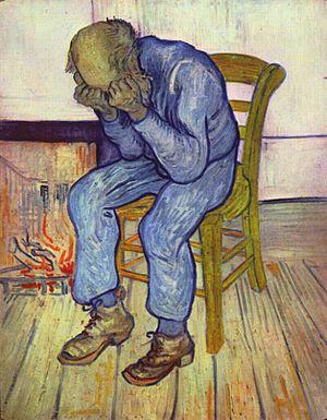 Sorrowing Old Man ('At Eternity's Gate') by van Gogh