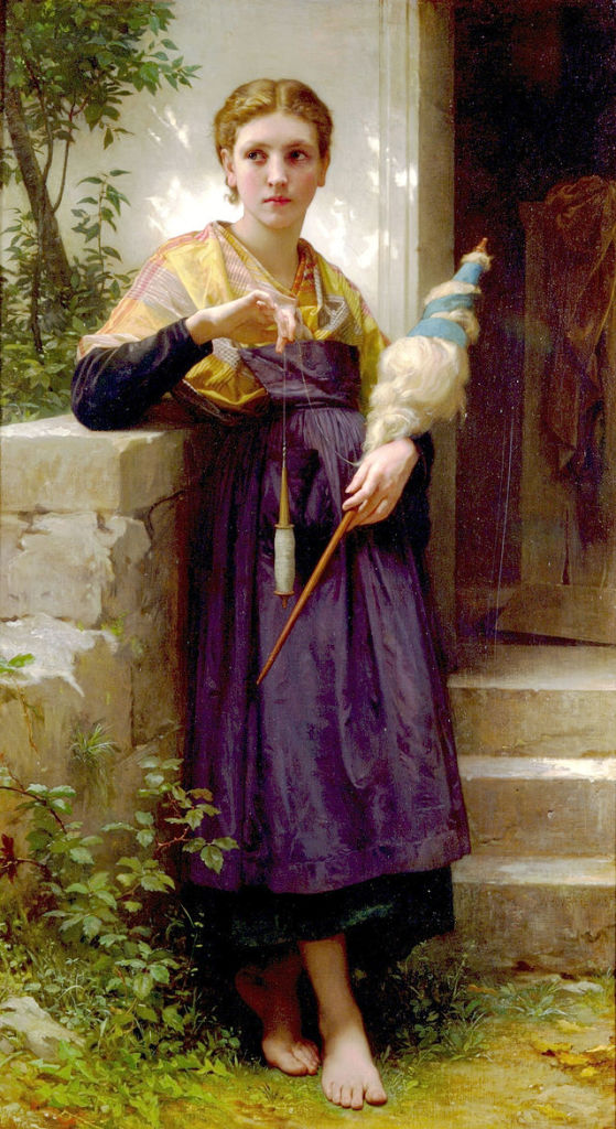 The Spinner by William Adolphe Bouguereau