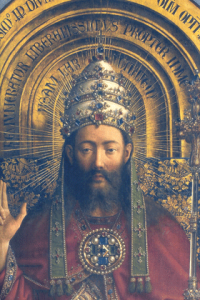 Jan van Eyck - Christ the KIng from the Ghent Altarpiece (1432)