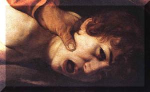 Caravagio - The Sacrifice of Isaac (detail)