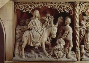 Entry into Jerusalem woodcarving