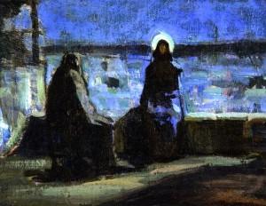 """Henry Ossawa Tanner """"Study for Nicodemus Visiting Jesus"""""""