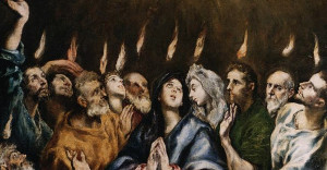 Detail of Penecost by El Greco