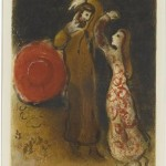 The Meeting of Ruth and Boaz by Marc Chagall (1960)