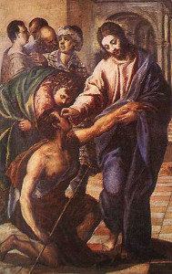 Christ Healing the Blind Man by El Greco (1560)