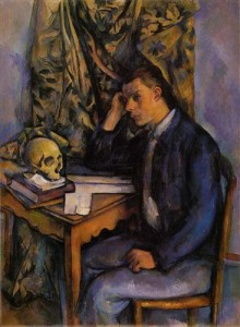 "Paul Cezanne ""Young Man and Skull"" (1898)"