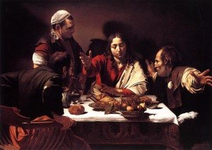 "Caravaggio's ""Supper at Emmaus"""