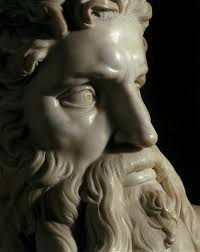 "Michelangelo's ""Moses""(detail)"