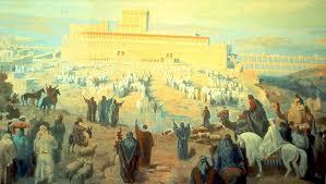 Pilgrims going up to Jerusalem