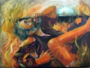 The Rich Man and Lazarus by Darlene Slavujac Thau