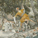 Zacchaeus being called down from the tree - by James Tissot