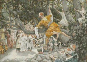 """Zacchaeus in the Sycamore Awaiting the Passage of Jesus"" by James Tissot"